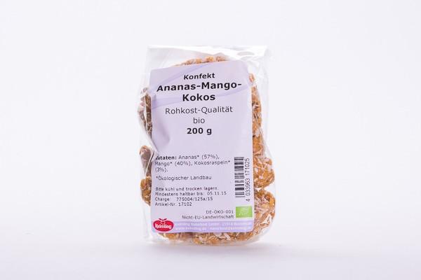 Ananas - Mango - Kokos, Konfekt (BIO)